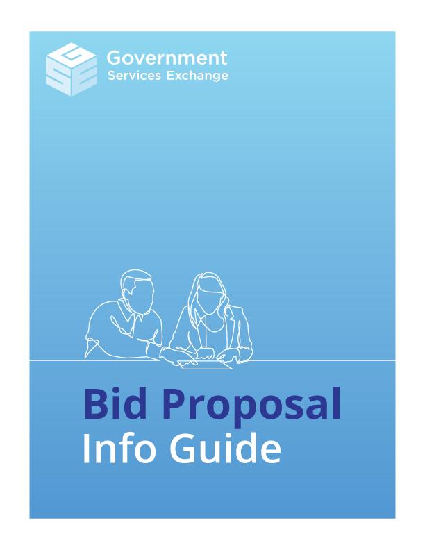 Gov bid proposal info guide