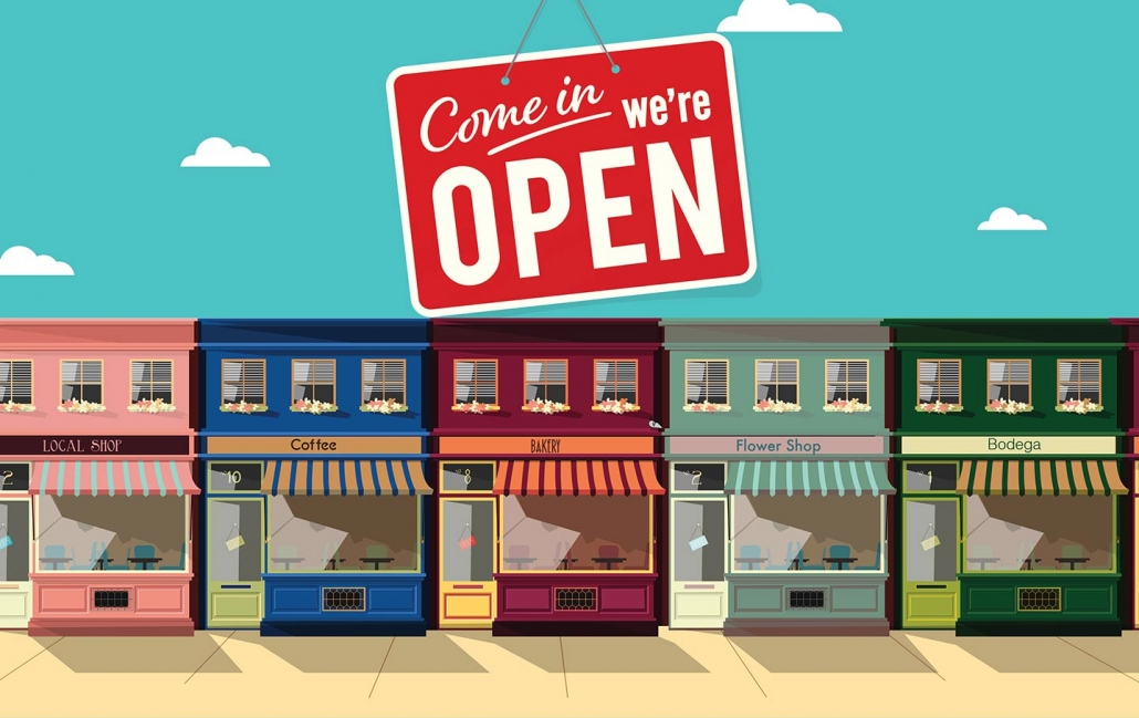 Small businesses open