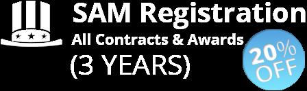 SAM registration 3 year